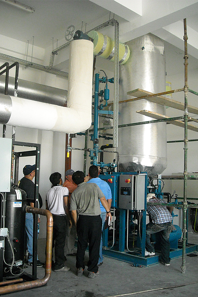 sistema de refrigeración para procesadoras de alimentos
