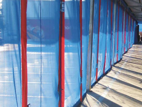 Plastic and Curtains - Industrial and comercial refrigeración equipment