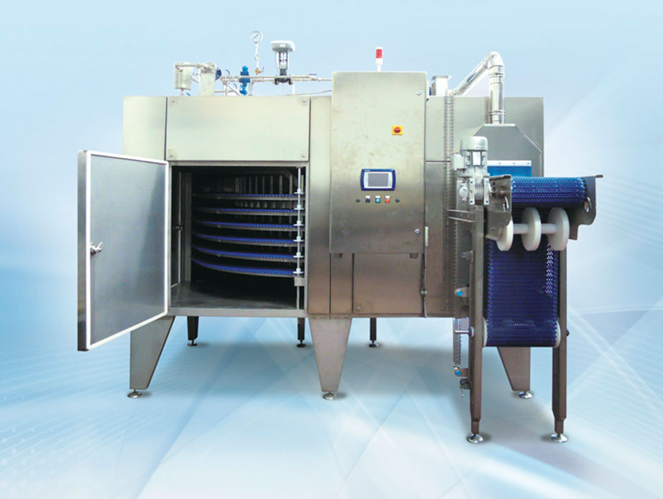 """<p>Spiral pasteurizer model """"compact""""</p> - Industrial and comercial refrigeración equipment"""