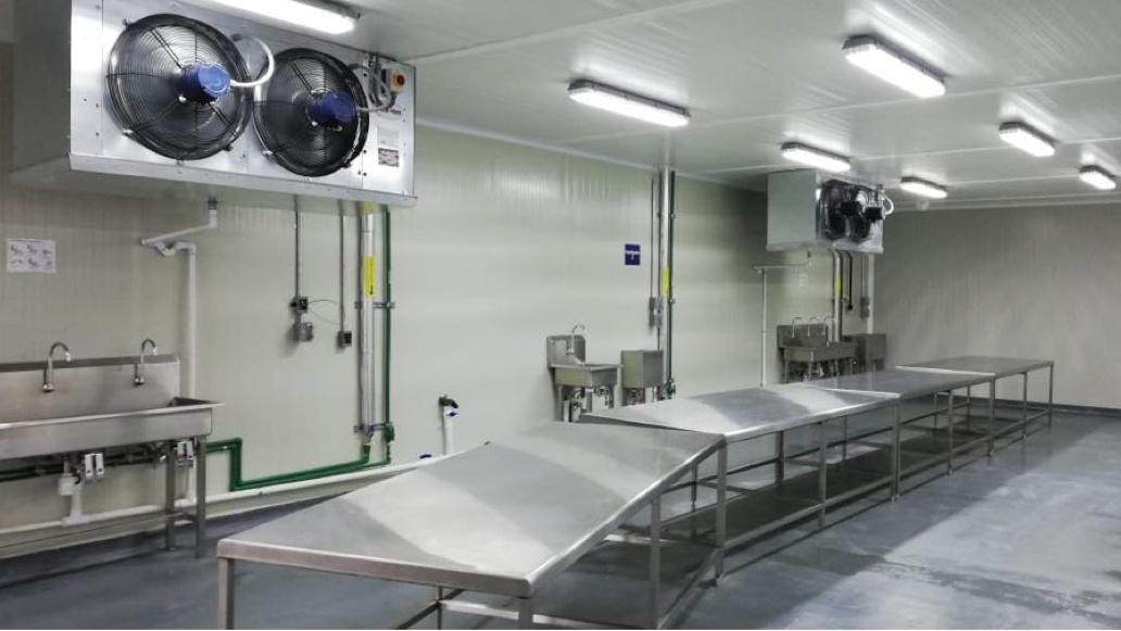 Camara de proceso - evaporadores de amoniaco sgs